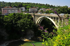 Bridge on the Piave. Bridge in Belluno Royalty Free Stock Photo