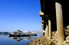 Bridge and pier Royalty Free Stock Photography