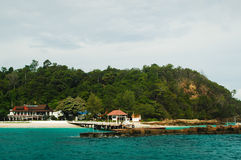 Bridge pier in the Andaman Sea Royalty Free Stock Images