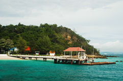 Bridge pier in the Andaman Sea Stock Photo