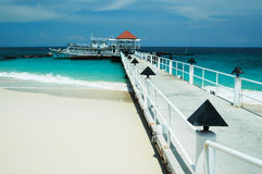 Bridge pier in the Andaman Sea Stock Image