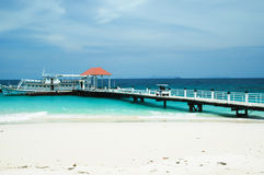 Bridge pier in the Andaman Sea Stock Photography
