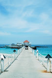 Bridge pier in the Andaman Sea Stock Photos
