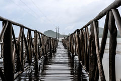 Bridge pier On the Gulf of Thailand Stock Image