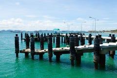 Bridge pier. Royalty Free Stock Images