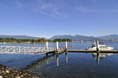 Bridge, pier and yacht Stock Image
