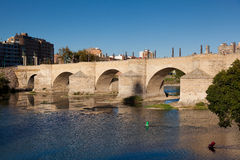 Bridge of the Pilar, Zaragoza. Spain Royalty Free Stock Images