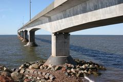 Bridge Pilings - Confederation Bridge Stock Photography