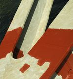 Bridge pillar with anti-rust paint Royalty Free Stock Image