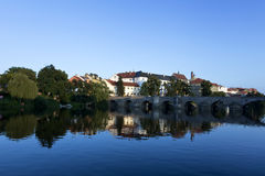 Bridge at pisek Stock Photography