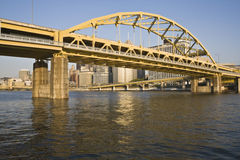 Bridge in Pittsburgh royalty free stock photography
