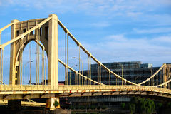Bridge in Pittsburgh, Pennsylvania stock photo