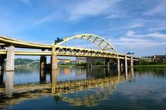 Bridge in Pittsburgh, Pennsylvania Royalty Free Stock Image