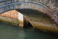 Bridge and play of lights, Venice city, Italy Royalty Free Stock Image
