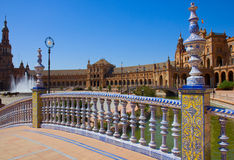 Bridge of Plaza de Espa?a, Seville, Spain Stock Photos