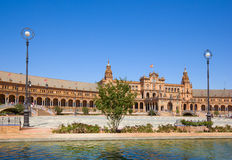 Bridge of  Plaza de Espa?a, Seville, Spain Royalty Free Stock Image