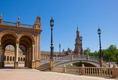 Bridge of Plaza de Espa?a,  Seville, Spain Royalty Free Stock Photo