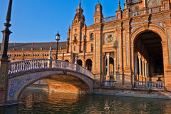 Bridge in Plaza de Espana, Seville Stock Photography