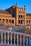 Bridge in Plaza de Espana, Seville Royalty Free Stock Photography