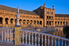 Bridge in Plaza de Espana, Seville Stock Photo