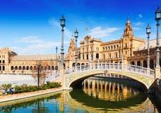 Bridge at Plaza de Espana in Seville, Spain Royalty Free Stock Photography