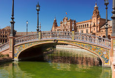 Bridge of  Plaza de Espana, Seville, Spain Stock Photography