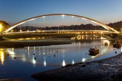 Bridge between Plentzia and Gorliz Stock Images
