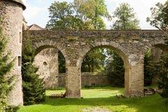 The bridge in the Polish Czocha Castle Royalty Free Stock Photos