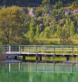 Bridge & pond Stock Image