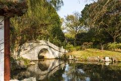 Bridge and pond Royalty Free Stock Photos