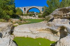 Bridge Pont Julien in Provence France Royalty Free Stock Photos