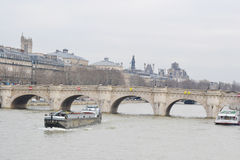 Bridge Pont Neuf across the Seine. Stock Photo