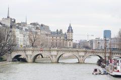 Bridge Pont Neuf across the Seine. Stock Image
