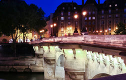 The bridge pont neuf over the Seine river, Paris,France. Royalty Free Stock Photography