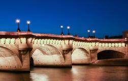 The bridge pont neuf over the Seine river, Paris,France. Stock Image