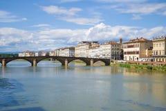 Bridge Ponte alla Carraia on a sunny September day. Florence, Italy Stock Photography