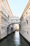 Bridge Ponte dei Sospiri in Venice. Ponte dei Sospiri (Bridge of Sighings) over channel Rio de Palazzo de Canonica in Venice (Italy Royalty Free Stock Image