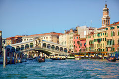 Bridge Ponte Rialto in Venice Royalty Free Stock Images
