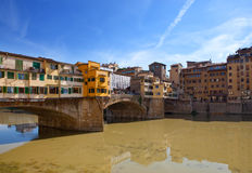 Bridge Ponte Vecchio. Florence Stock Photos