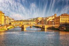Bridge Ponte Vecchio in Florence. Italy Stock Photography