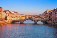 Bridge Ponte Vecchio in Florence. Italy Stock Image