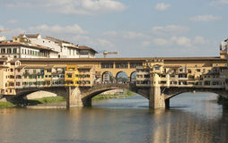 Bridge Ponte Vecchio in Florence Royalty Free Stock Images