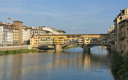 Bridge Ponte Vecchio in Florence Royalty Free Stock Photos
