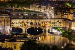 Bridge Ponte Vecchio in Florence - Italy. Architecture background Royalty Free Stock Image