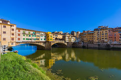 Bridge Ponte Vecchio in Florence - Italy. Architecture background Royalty Free Stock Photo