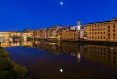 Bridge Ponte Vecchio in Florence - Italy. Architecture background Royalty Free Stock Photos