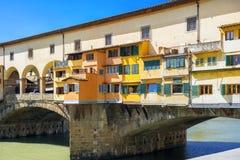 Bridge of Ponte Vecchio in Florence, Italy Stock Photos