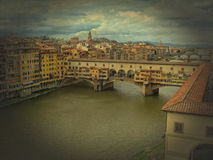 Bridge Ponte Vecchio in Florence, Italy Stock Photos