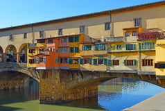 Bridge Ponte Vecchio over the Arno River in Florence, Italy Royalty Free Stock Images