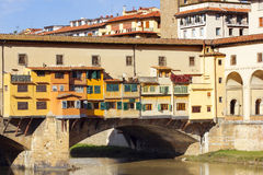 Bridge Ponte Vecchio over the Arno River in Florence Stock Images